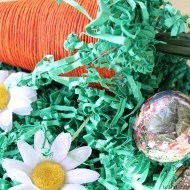 Spring  Carrot craft with Rit dye and twine