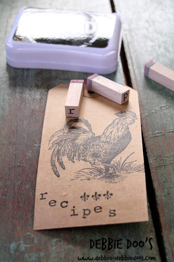 recipe shoe box with #modpodge 001