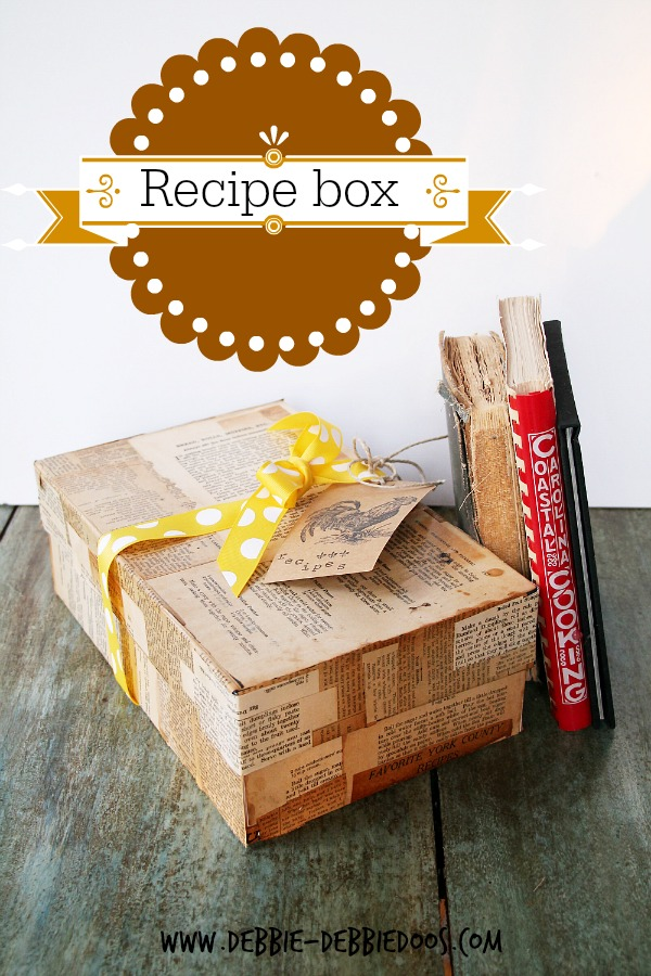recipe shoe box with #modpodge