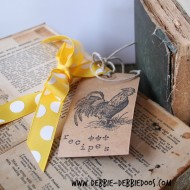 recipe shoe box with #modpodge 018