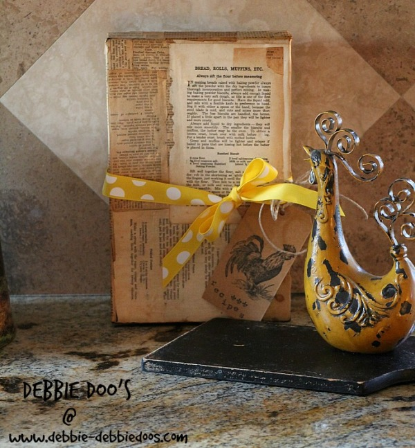 Diy recipe box #modpodge #recycle