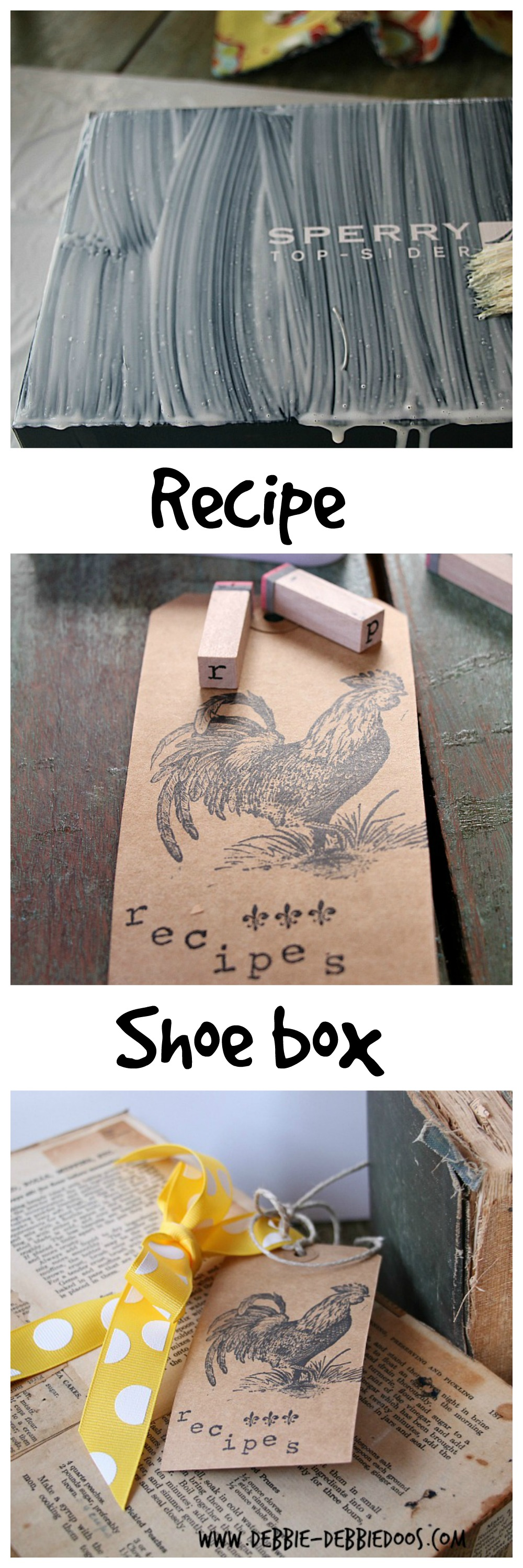 recipe shoe box