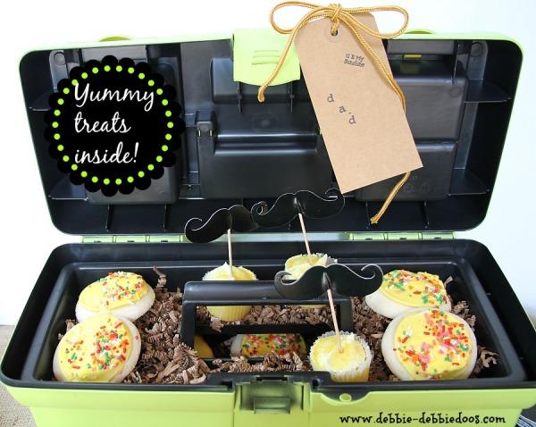 Bakery treats inside a tool box #givebakerybecause
