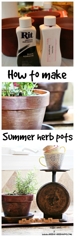 How to make summer herb pots with #Ritdye