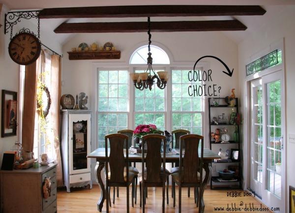 Kitchen ladder shelf makeover needed