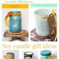 Recycled  jar and tin can candle crafts