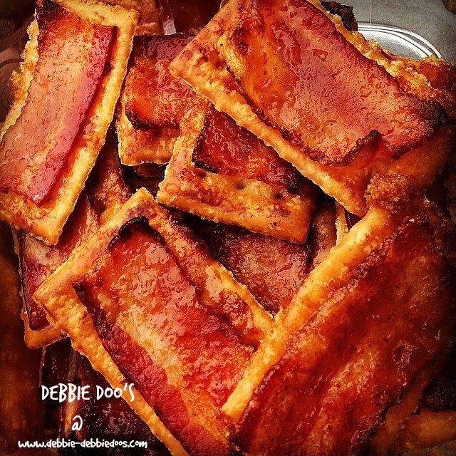 How to make bacon crackers - Debbiedoos