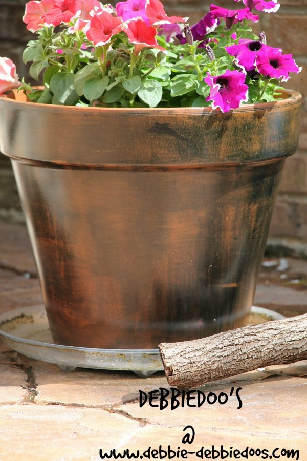 creating a rustic terra cotta pot with rit dye color perfect 024