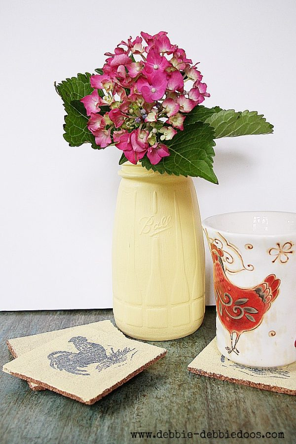 update your home decor with #chalkypaint #Americandecor #homedepot #corkcoasters