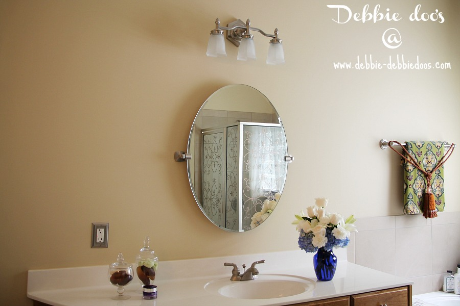 Bathroom Mirror Lights 900 X 600 removing builder grade bathroom mirrors - debbiedoos