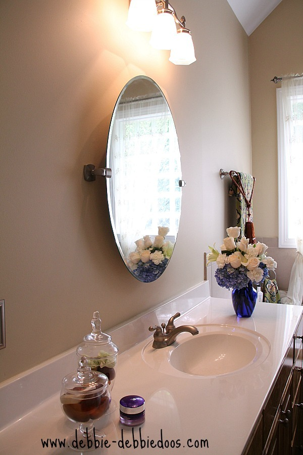 upgraded mirrors in the master bath