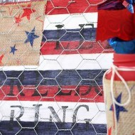 Patriotic craft plaque with Rit dye