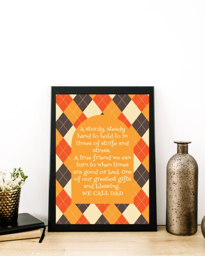Fathers day free printable