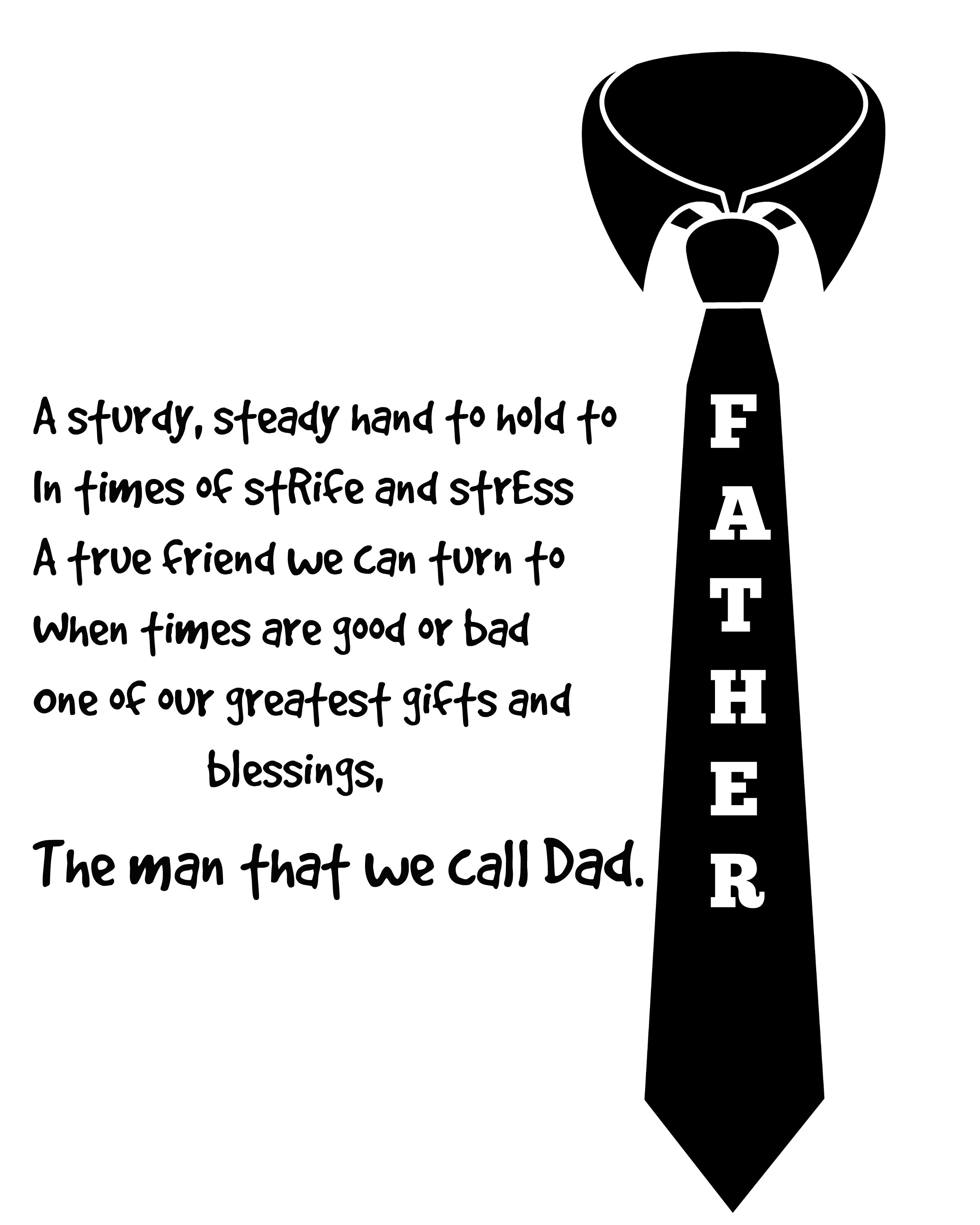 Amazing image within printable fathers day poems