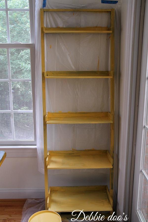 Kilz hide-all painted shelf