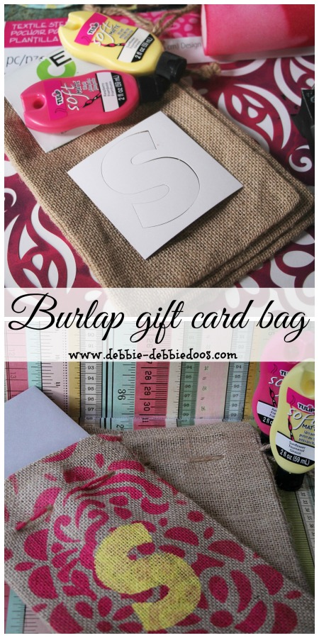 Make a card burlap gift bag