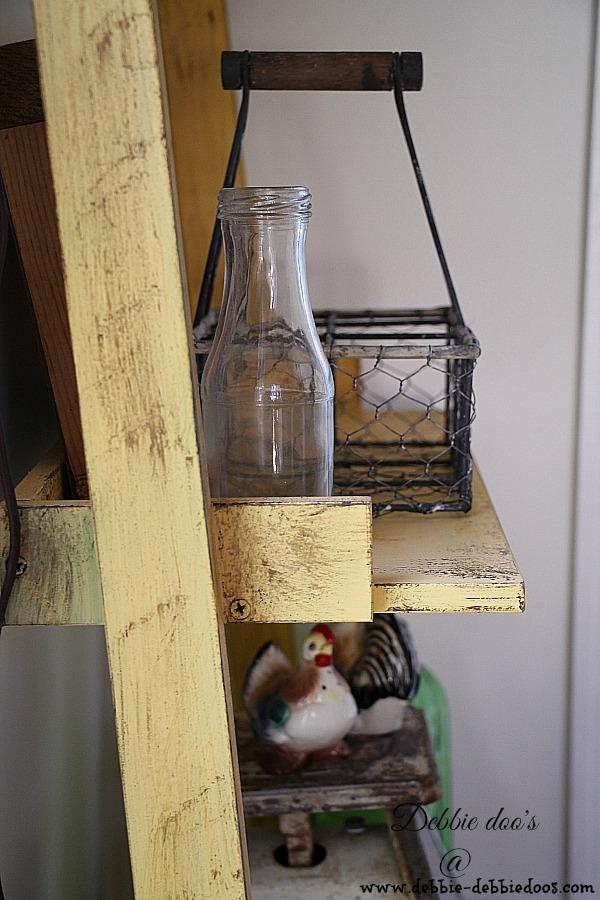 kitchen and diy ladder shelf 010