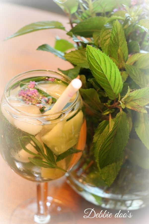 Drinking water with fresh herbs is great for you
