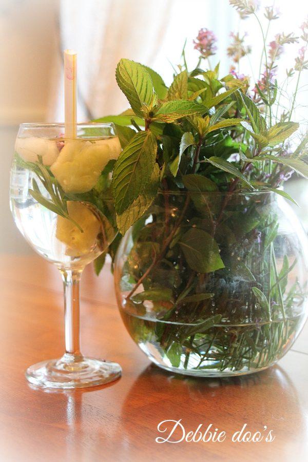 herb infused water