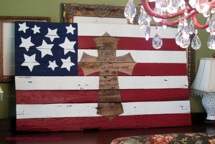 32a8a4fab984 Patriotic pallet ideas - Debbiedoos