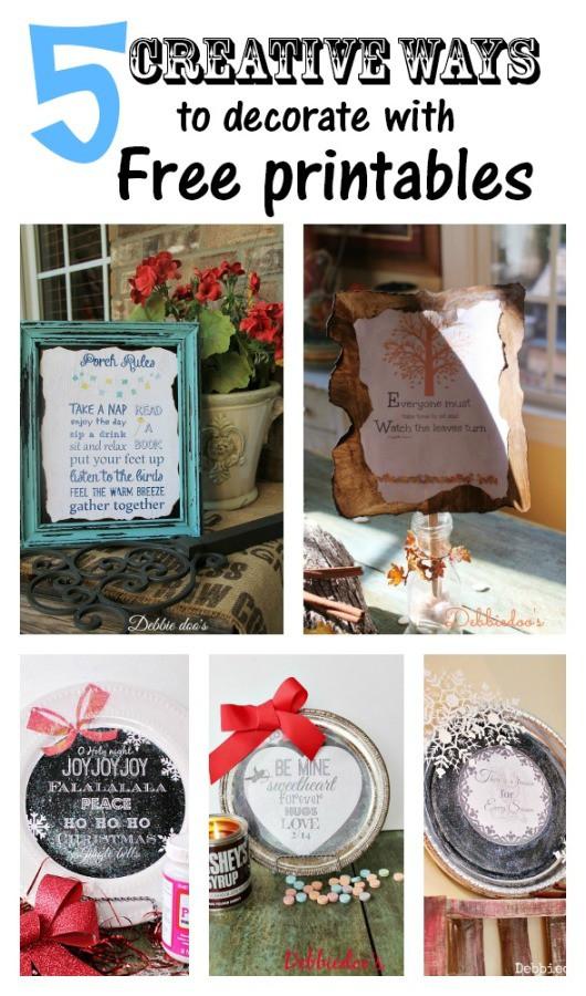 5 creative craft ideas with free printables   debbiedoos