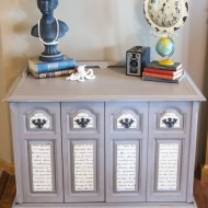 French scripted buffet makeover