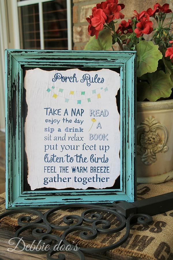 Porch rules printable
