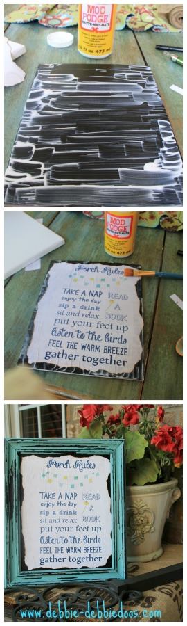 Summer porch rules craft