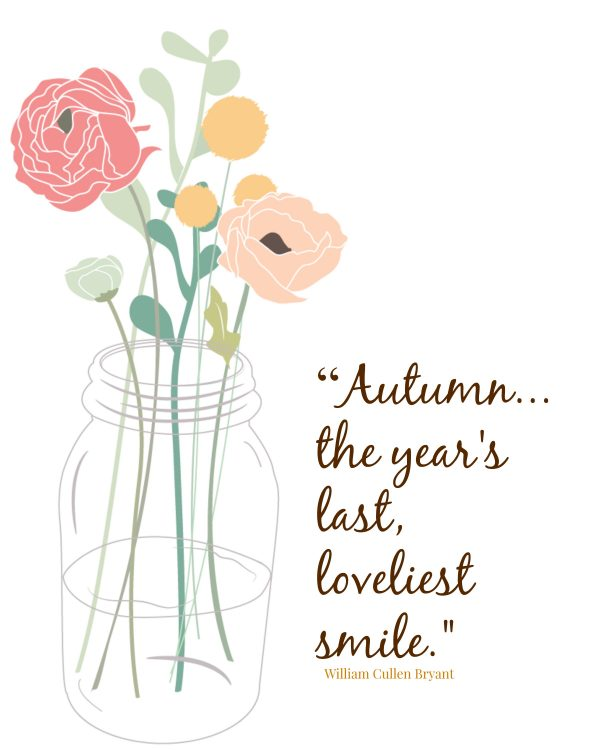 Autumn smile printable