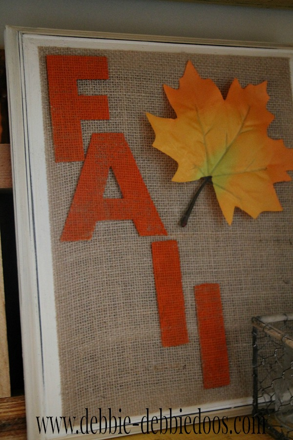 BHG fall art and burlap