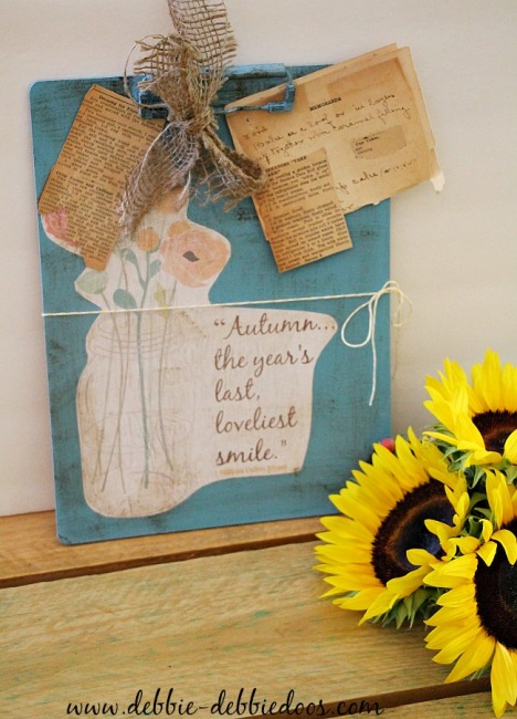 Dollar tree printable mod podge clipboard craft