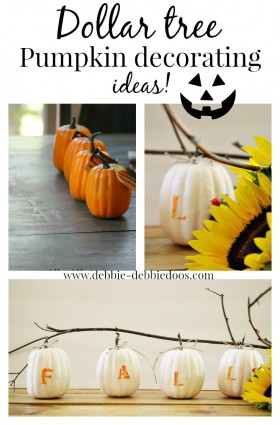 Dollar tree pumpkin decorating ideas