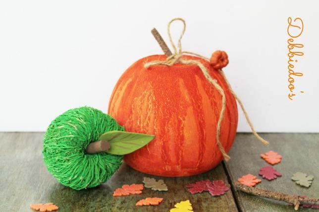Gesso glass pumpkin 008