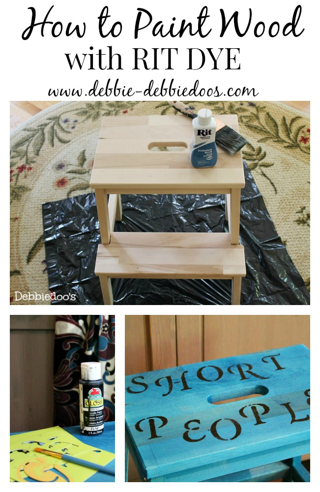 How to paint on wood with rit dye