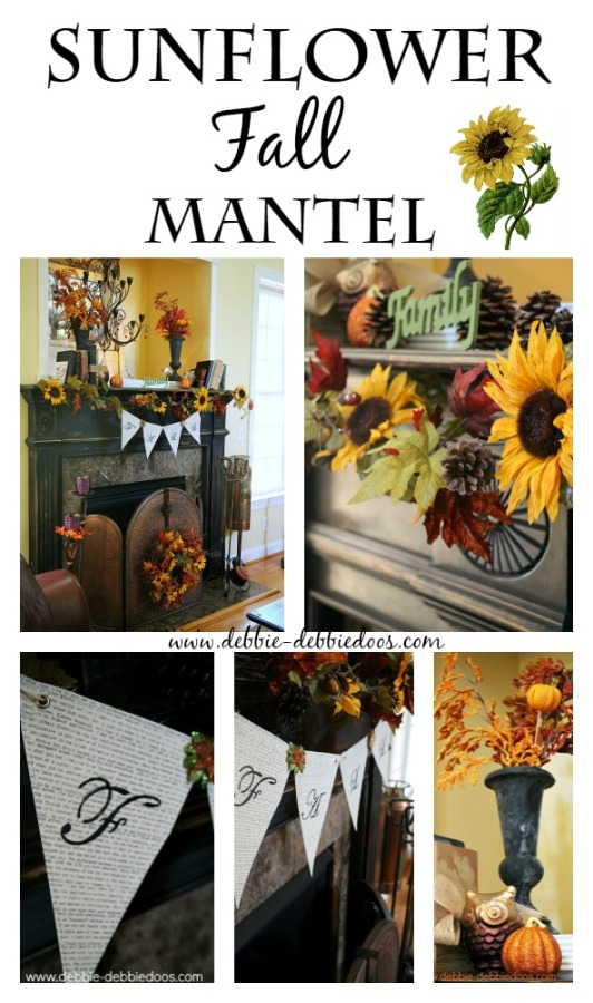 Sunflower fall mantel