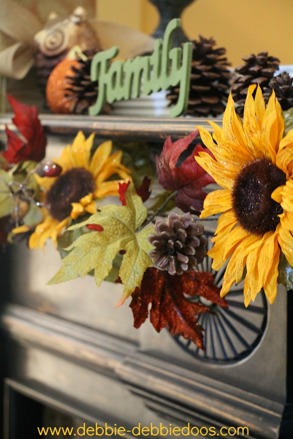 Sunflower mantel
