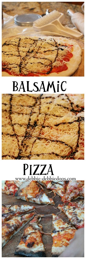 balsamic glaze pizza on the grill or oven