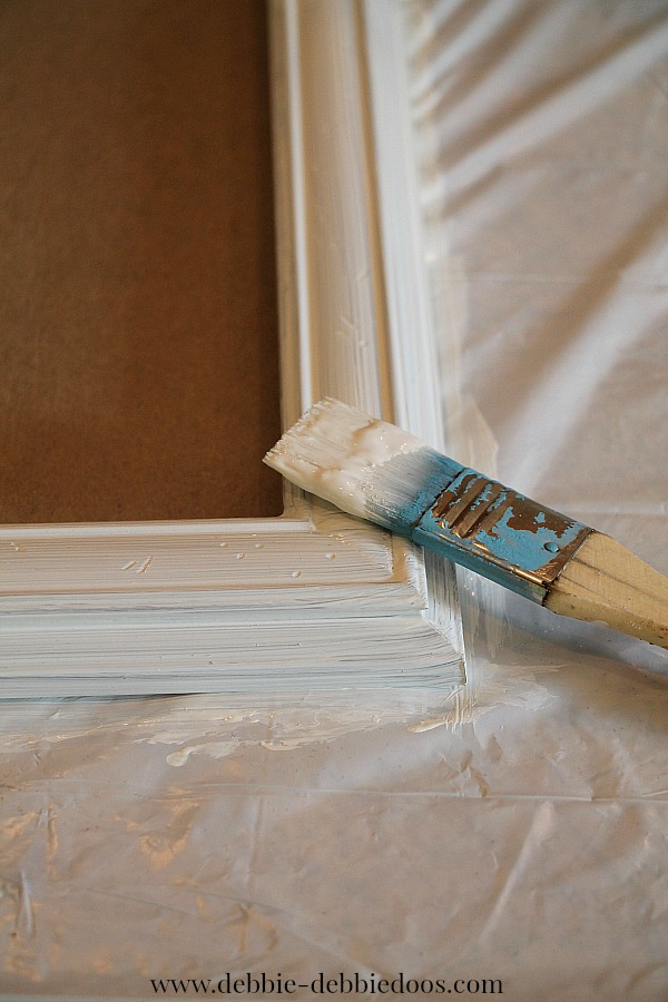 bhg picture frame painted with chalky paint
