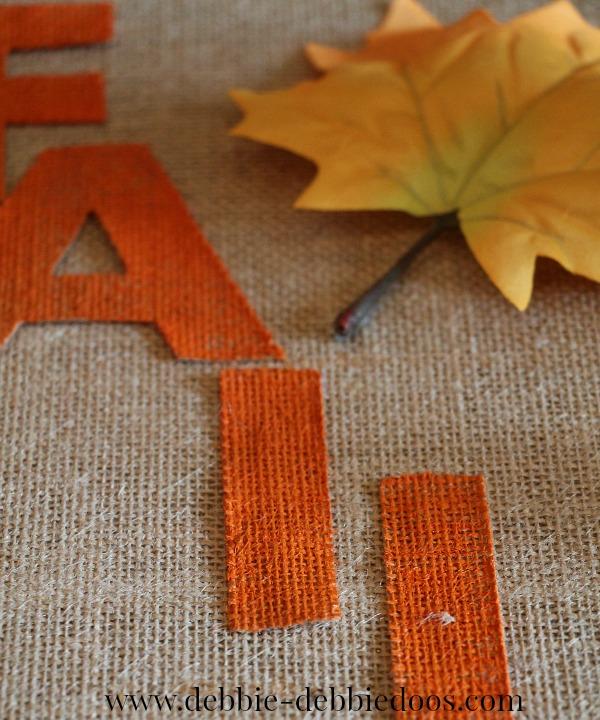 burlap-letters Burlap Fall art work for less than .00
