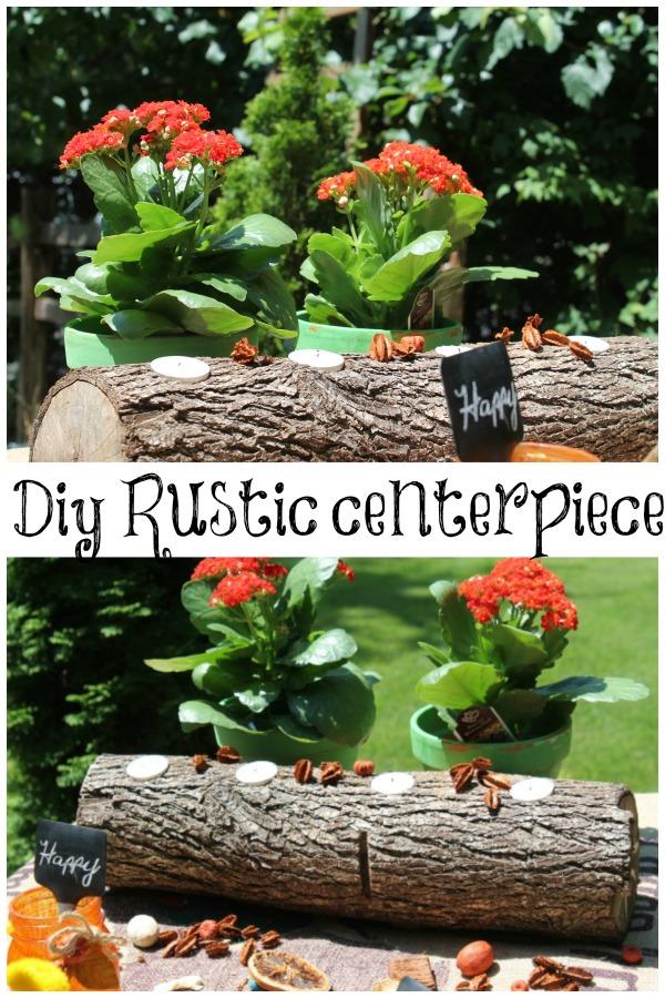 diy rustic centerpiece