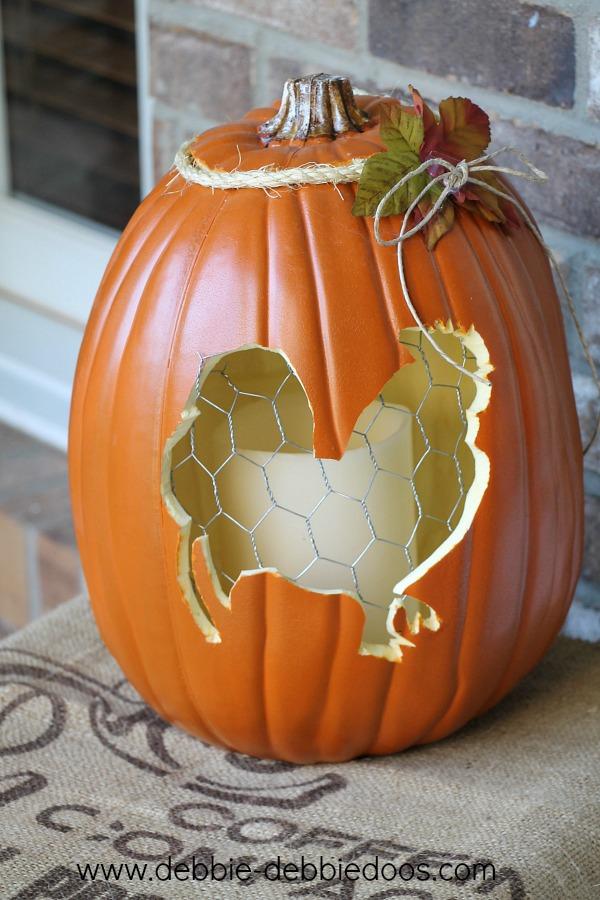 faux carved pumpkin