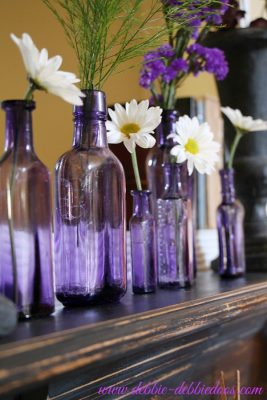 History of purple bottles