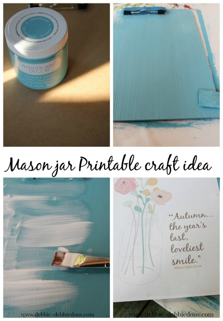 mason jar craft printable idea
