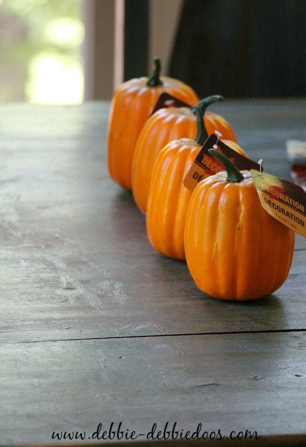 orange dollar tree pumpkins