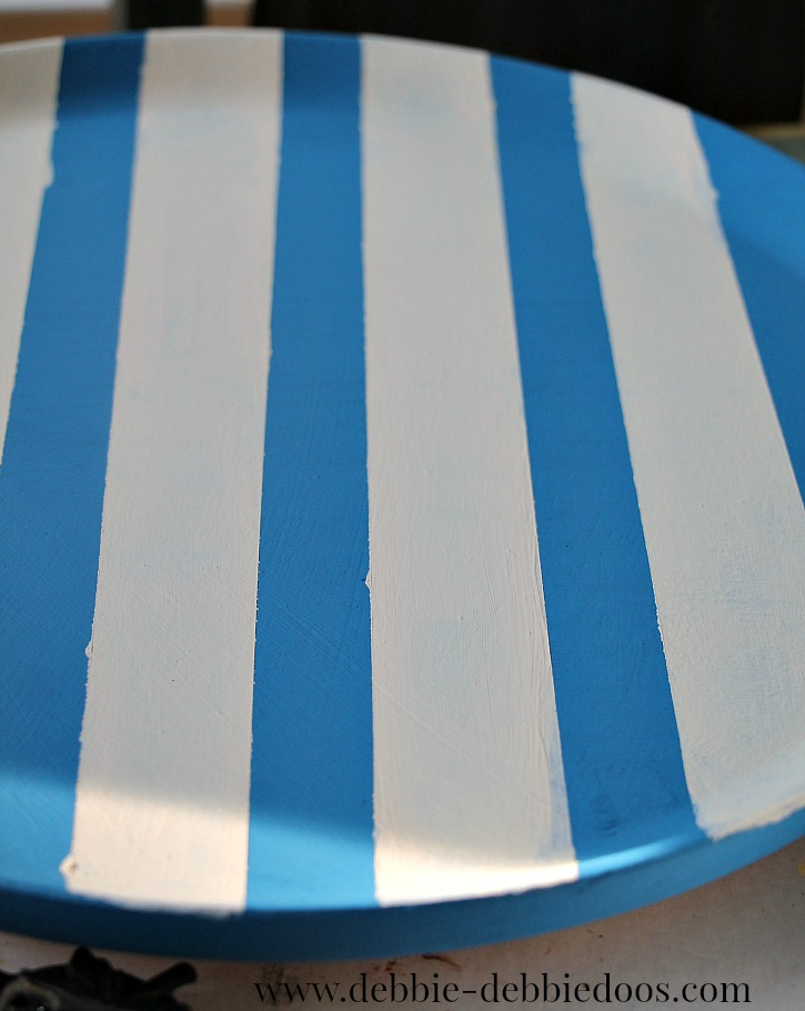 painted stripes on lazy susan