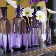History of Vintage purple bottles