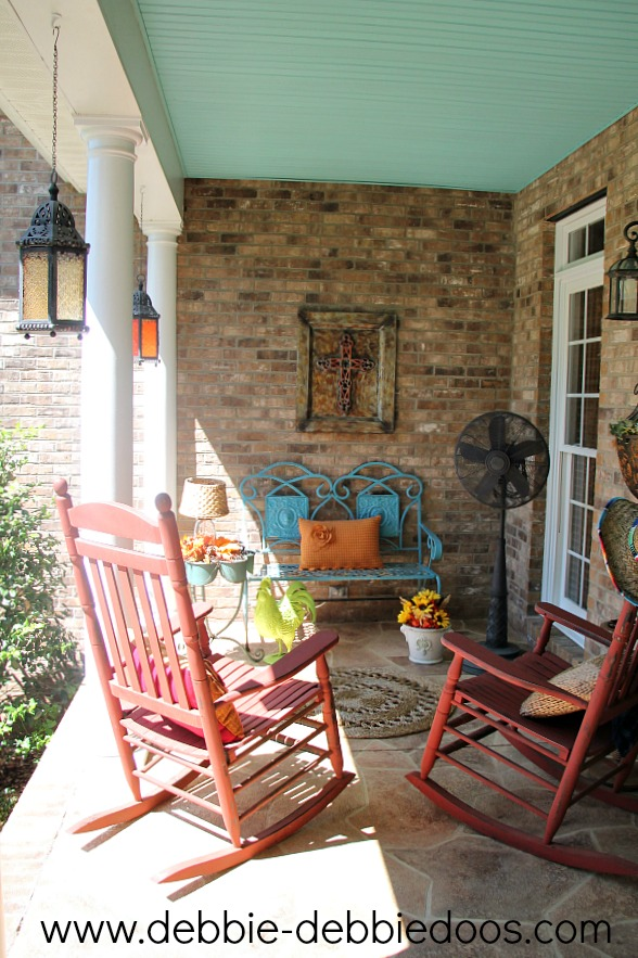 rustic country porch for fall