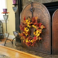 sunflower wreath for mantel