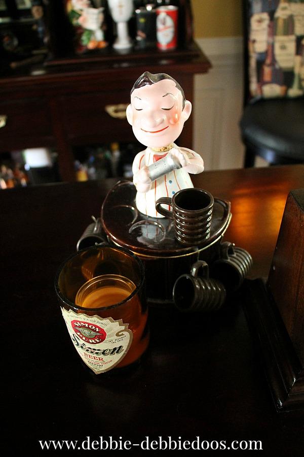 vintage bartender shot glasses