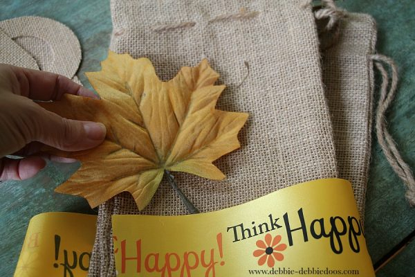 Burlap utensil holders for Thanksgiving or Fall table scape